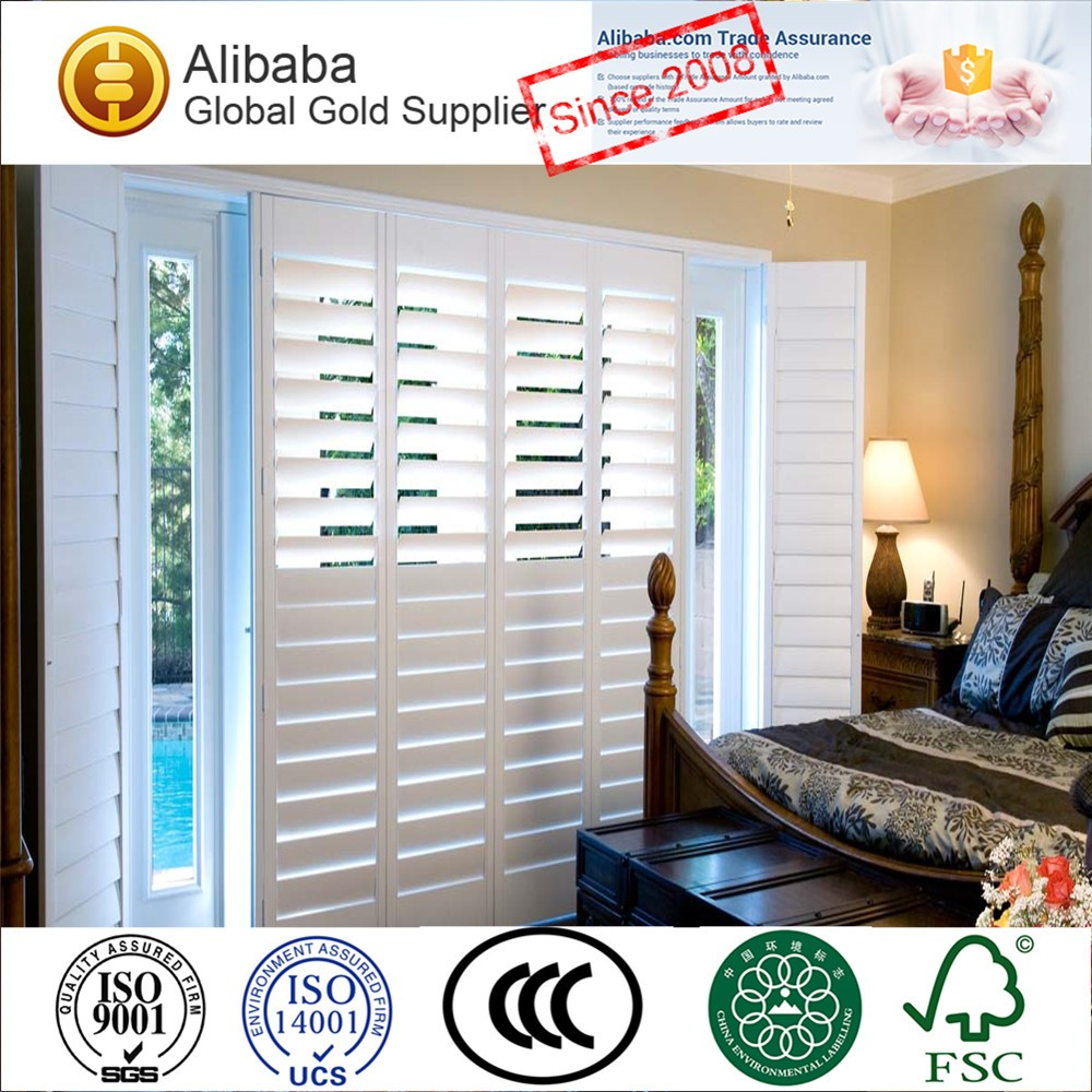 Fire Rated Pvc Or Faux Wood Plantation Window Shutter