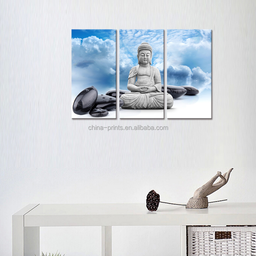 Buddha Leinwand Wandkunst, Blauer Himmel, Zen Spa Stein Bild ...