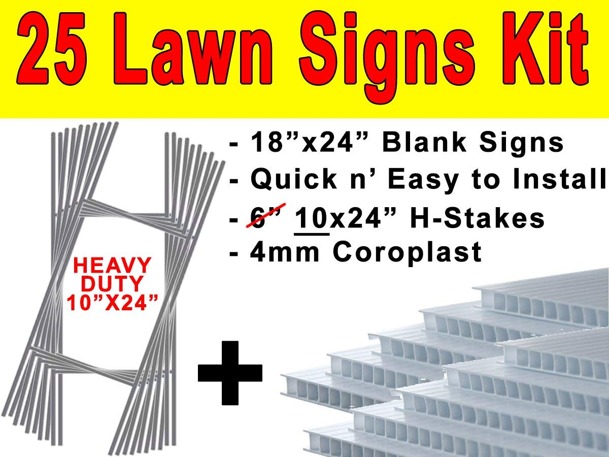 CGSignLab 18x12 Modern Gradient Double-Sided Weather-Resistant Yard Sign Warning 5-Pack