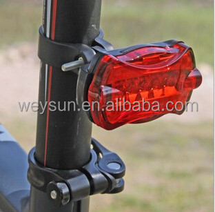 Cheap Bicycle Cycling Tail Light, Bike Safety Back Rear 5 Flash Led MTB Red Rear Light Riding equipment Lamp