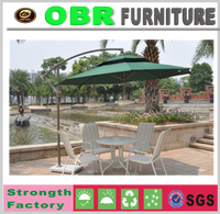 2017 All weather with umbrella outdoor rattan furniture,high quality summer umbrella