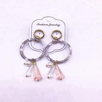 53cfacb335c6 Pendiente del aro plástico pendientes hechos a mano al por mayor ornamento colgante  pendientes joyería de