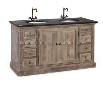 Stile country francese mobiletto del bagno di legno for Stile country francese