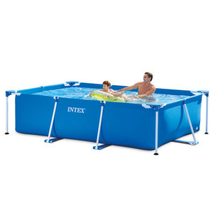 Intex 28270 PVC Rectangular Metal Frame Portable Adult Children Above Ground Swimming Pools