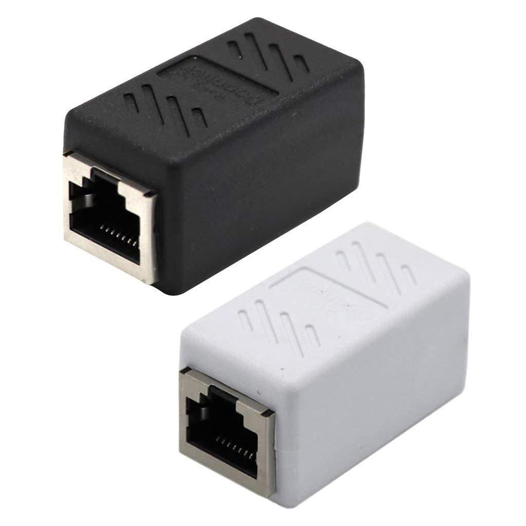 Homyl 2 in 1 RJ45 Female to Female Network Ethernet LAN Coupler Connector Adapter