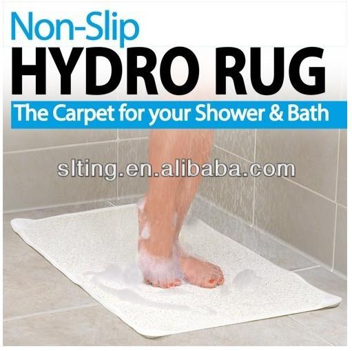 New Anti Slip Loofah Shower Rug Bathroom Bath Mat Carpet Water Drains Non Slip