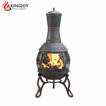 Garden Wood Burning Cast Iron Fire Pit Chimney