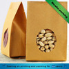 food pistachio nuts brown kraft paper packaging bags for cement with window