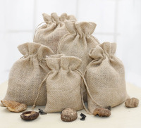 Custom Natural Burlap Gift Candy Bags Wedding Party Favor Pouch Jute Bag for Coffee Beans
