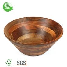 Wholesale Teak Rustic Acacia Small Wooden Red Salad Bowl