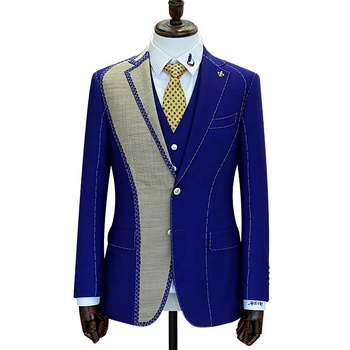 Full canvas suits for men custom bespoke tailor suits wool fabric men blazer and pant
