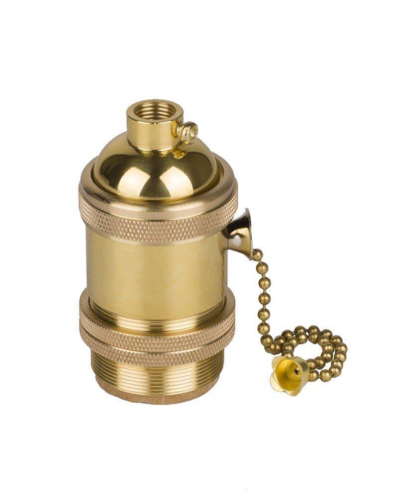 Splink E26/E27 the US Standard Socket Screw Bulbs Edison Retro Pendant Lamp Holder (Pull chain switch)