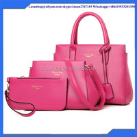 Pink Fashion PU Women Bags Handbag New Hand Bag Leather Bags Factory