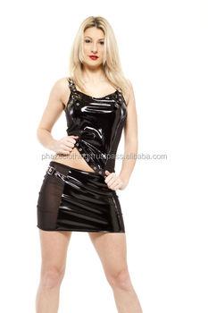 Phaze Black Pvc Mesh Side Panel Mini Skirt - Buy Pvc Mini Skirt ...