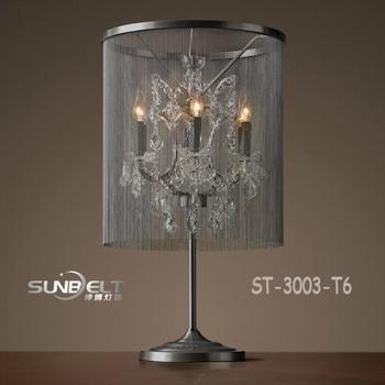 ST 3005 T6 SUNBELT Loft Crystal Candelabra Table Lamp,modern Crystal Candelabra  Table