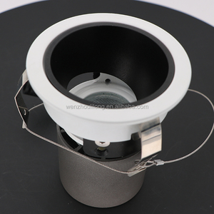 Black White silver rose gold Shell house 10W orientable Down light CRI>83 dimmable led spot AC220-240V