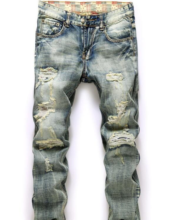 Z81475b Latest Man Ripped Jeans Wholesale China Men Damaged Jeans ...