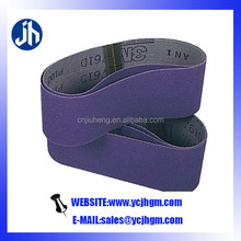 Lap joint blue zirconia sanding belts for stainless and precious metal