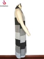 Custom stich type knitted women long cardigan women crochet vest