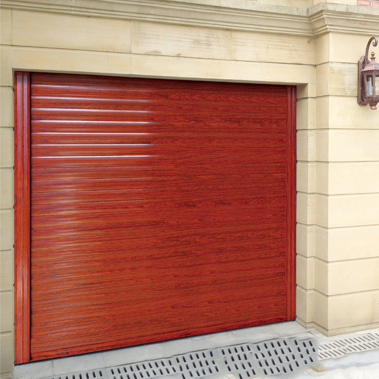 Double leaf over size non-standard security entry manual open china supplier wood veneer garage doors