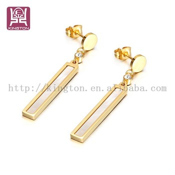 Gold Plated Dangle Earrings Designs For S