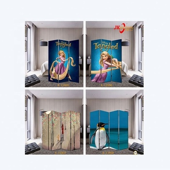 Home decor cartoon canvas paintings folding screen room dividers