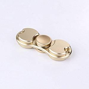 Spinner Fidgets Toy Metal EDC Sensory Fidget Spinner Hands Ceramic bearing Kids/Adult Funny Anti Stress Toys Gift (Gold)