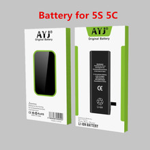 AYJ AAA Grade Quality Mobile Phone Battery for iPhone 5S 5C High Real Capacity 1560mah Zero Cycel