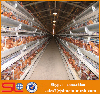 Layer Egg Chicken Cage/poultry Farm House Design / Layer Poultry ...