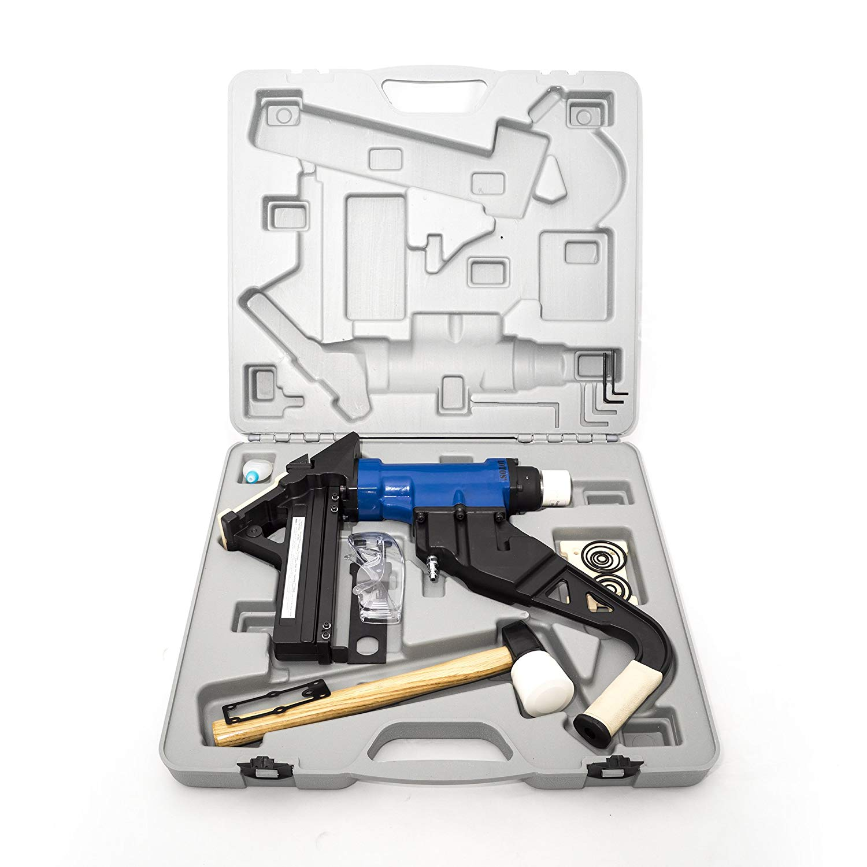LSN3 LOTOS 2-in-1 Air Hardwood Flooring Cleat Nailer and Stapler Gun