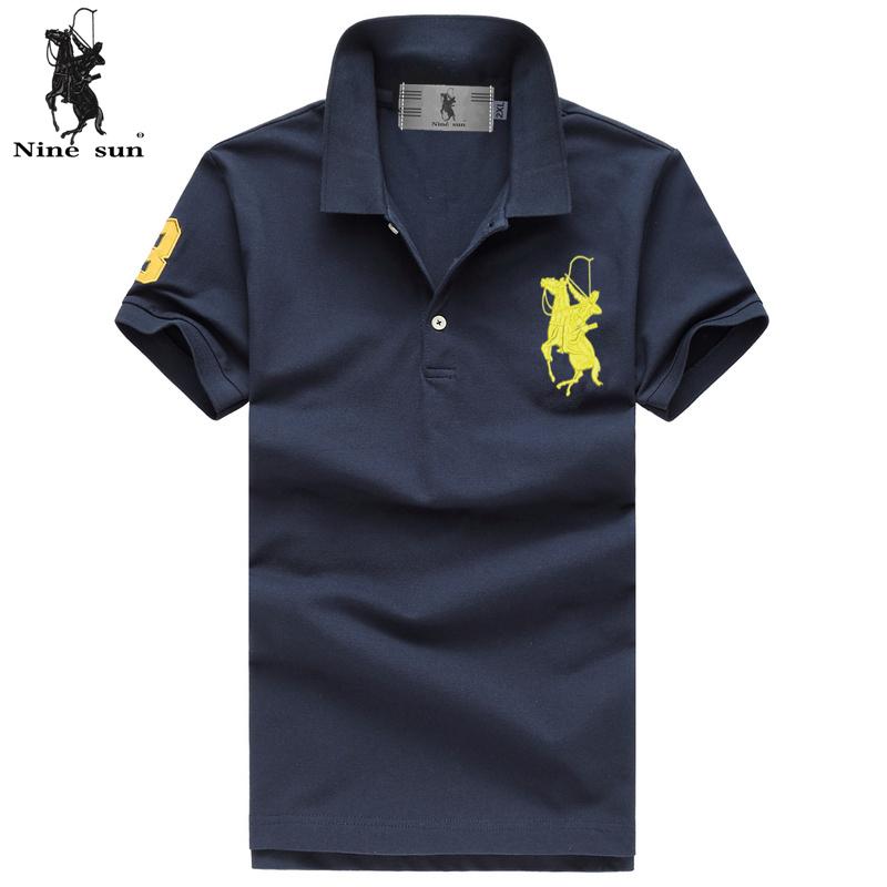 Buy 2015 New Big Horse Brand Logo 100 Cotton Embroidery Polo Shirt