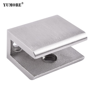20 Years Factory Heavy Duty Stainless Steel Wall Mounted Square Tube Metal Adjustable 90 Degree Right Angle Corner Glass Clamp