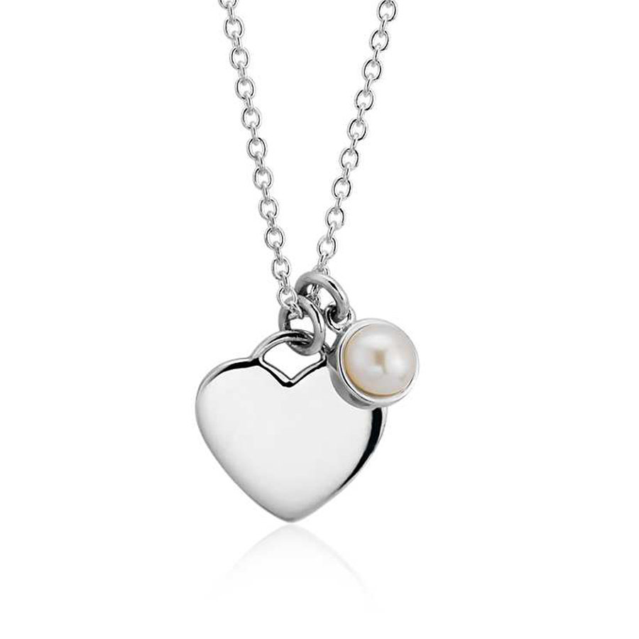 necklaces women 2017 stainless steel heart with pearl necklace