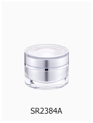 new design acrylic cream container clear 15g acrylic cosmetic jar white 30g luxury square plastic jar