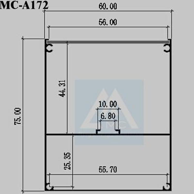 Good Anodized Led Linear Light Housing For Led Pendant Linear ...