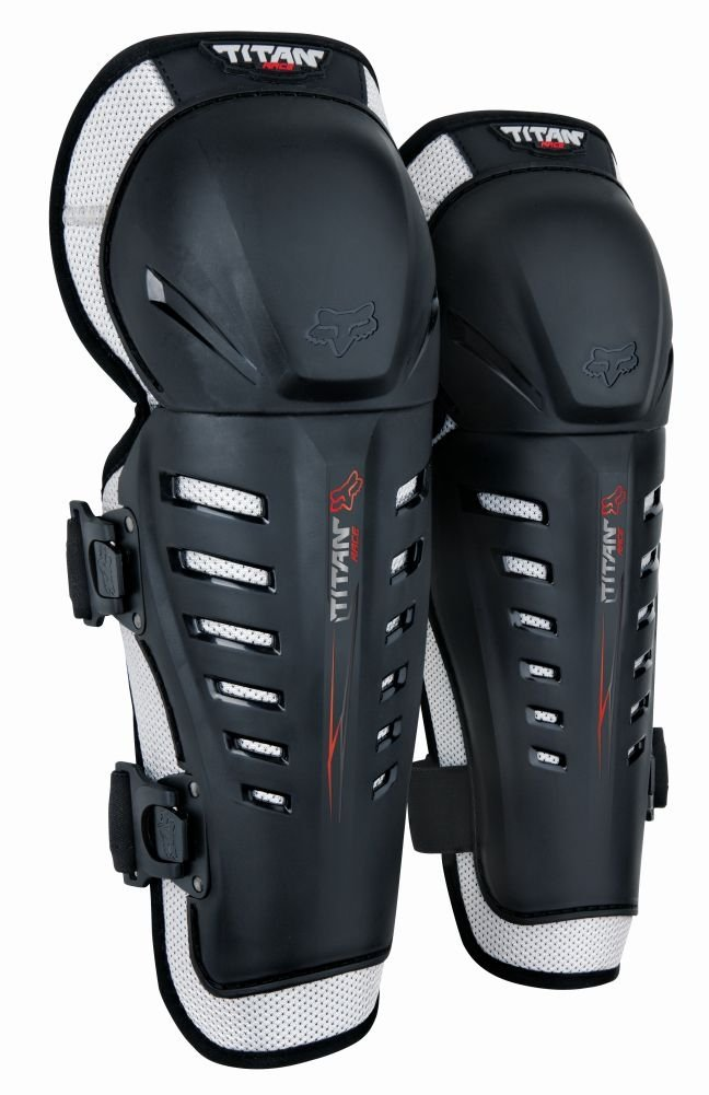 Fox Racing Titan Race Youth Knee/Shin Guard Off-Road Motorcycle Body Armor - Black / One Size