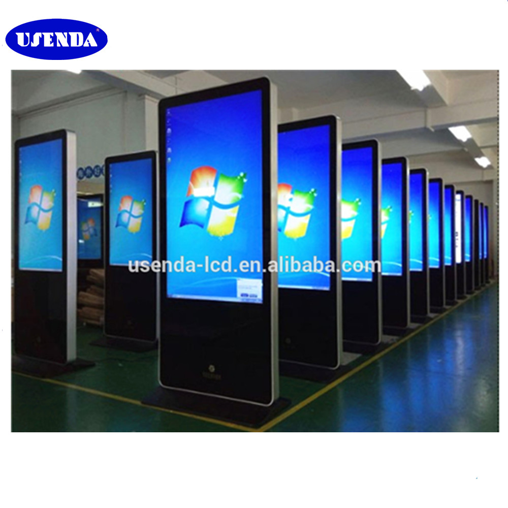 32 42 46 55 65 inch floor stand 3g wifi touch screen lcd advertising media player