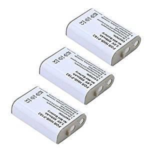 3 Pack of Panasonic KX-TGA271 Battery - Replacement Panasonic Cordless Phone Battery (800mAh, 3.6V, NIMH)