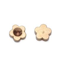 Wholesale 5mm Matte Gold Brass Flower Beads Jewelry