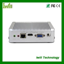 fanless mini pc DC12v power supply, portable linux mini pc, small size computer