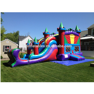 Castle V -Roof Wet/Dry Combo, Inflatable Castle Combo Bounce House For Kids From Inflatables