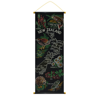 Scroll Souvenir Printed New Zealand Map, New Zealand Souvenir Product, Zew Zealand Souvenir Scroll