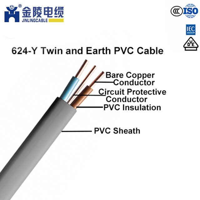 6mm Twin /& Earth Mains Power Clip Cable Flat Grey Wire Qty 100 200 500 1000
