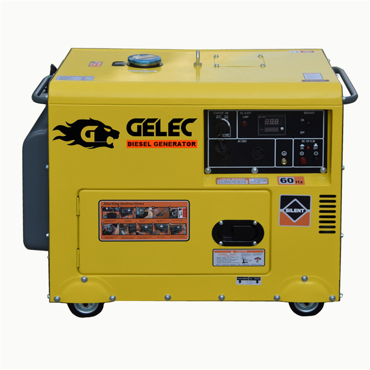 Silent compact low rpm diesel generator 3kW - 50 kW