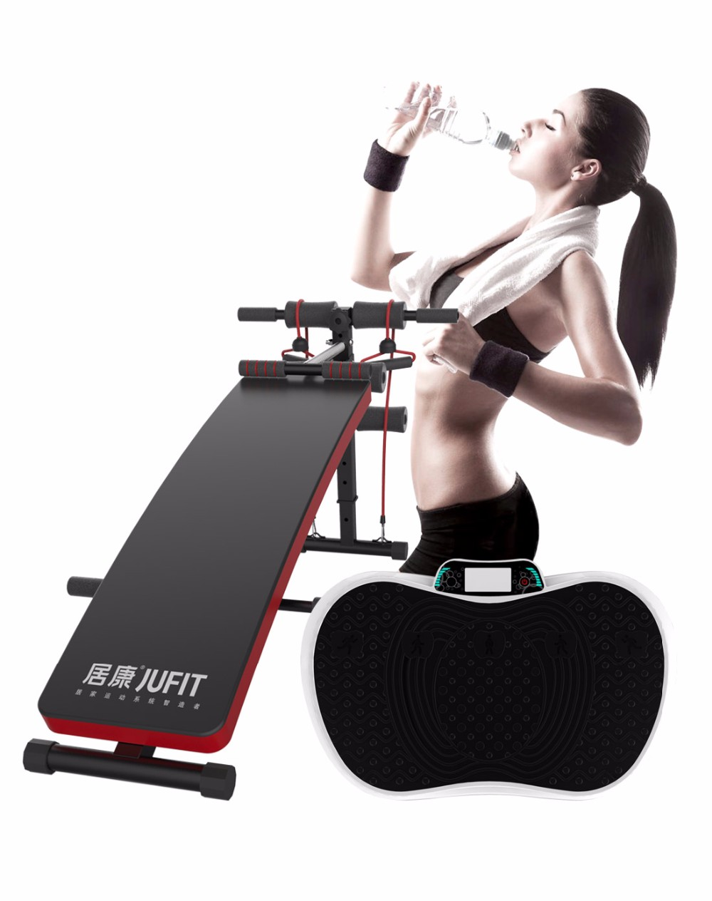 Easy fitness equipment sit up bench for lack of exercise people