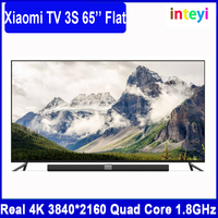 Newest xiaomi mi tv 3s 65 Inch Flat Interface HD Screen Real 4K Quad Core 3840*2160 A53 mi tv Ultra HD xiaomi tv 65'' 1.8GHz