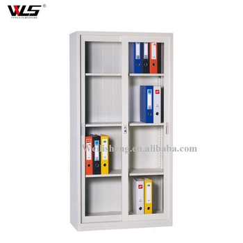 Sliding Glass Door Filing Cabinet Bookcase With Four/Five Shelves