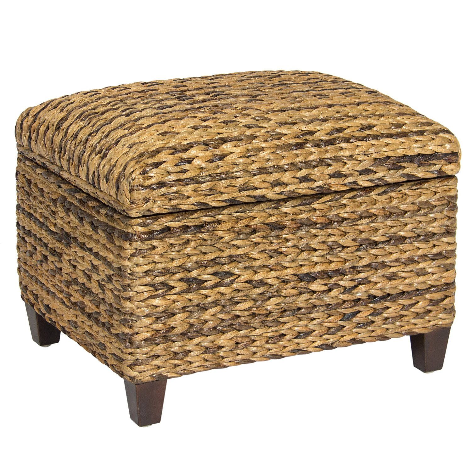 Get Quotations · Best Choice Products Hand Woven Seagrass Storage Ottoman  Home Furniture