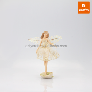 Resin angel products wholesale elegant angel with lace dress