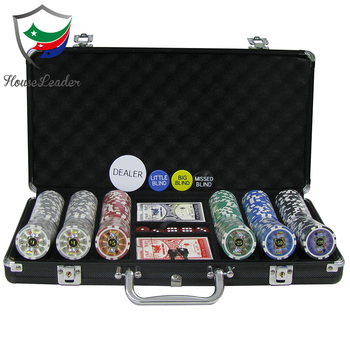 High quality poker chips set 300 with 300 pieces custom poker chips